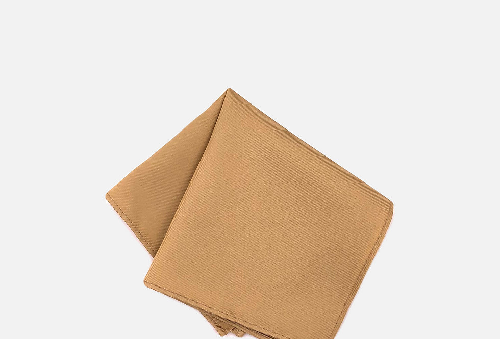 Solid Toffee Gold Pocket Square