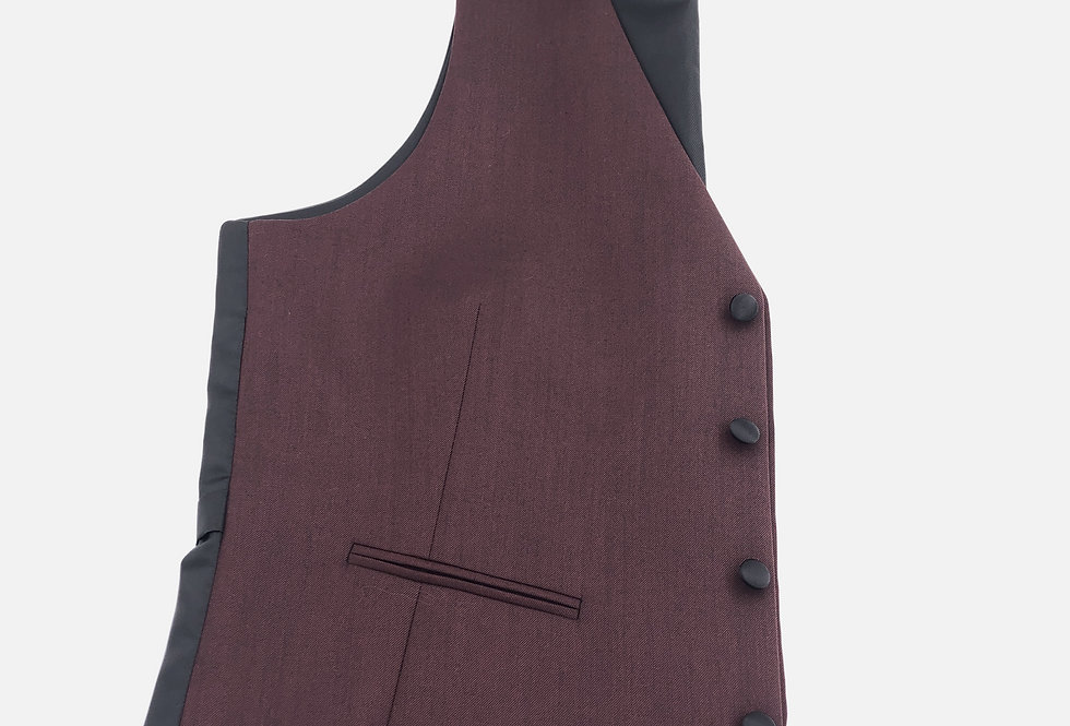 Burgundy 4 Button Vest