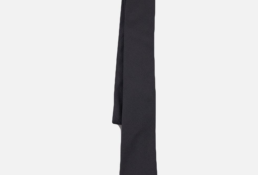 Pin Dot Charcoal Neck Tie