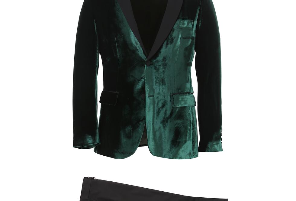 Emerald Velvet Shawl Tuxedo
