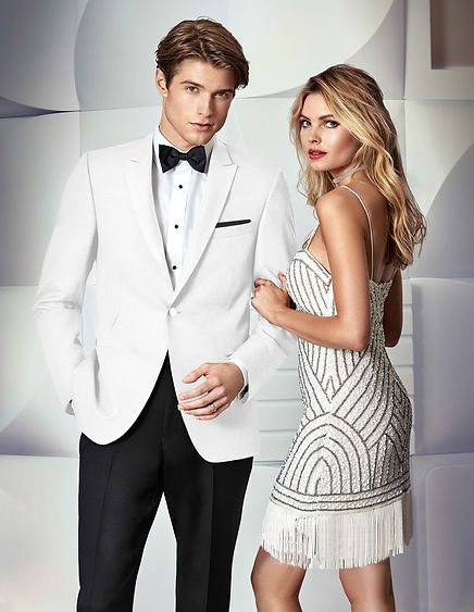 prom white suit jacket