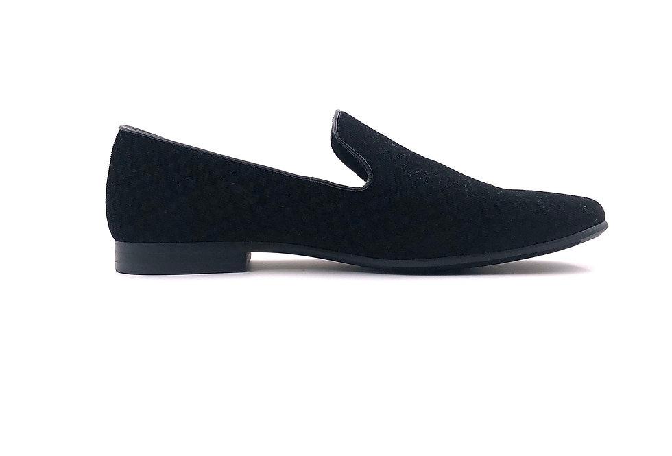 Black Velvet Slippers