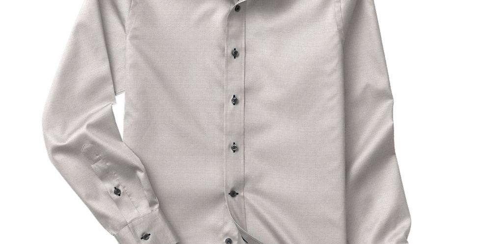Grey Fine Herringbone Shirt