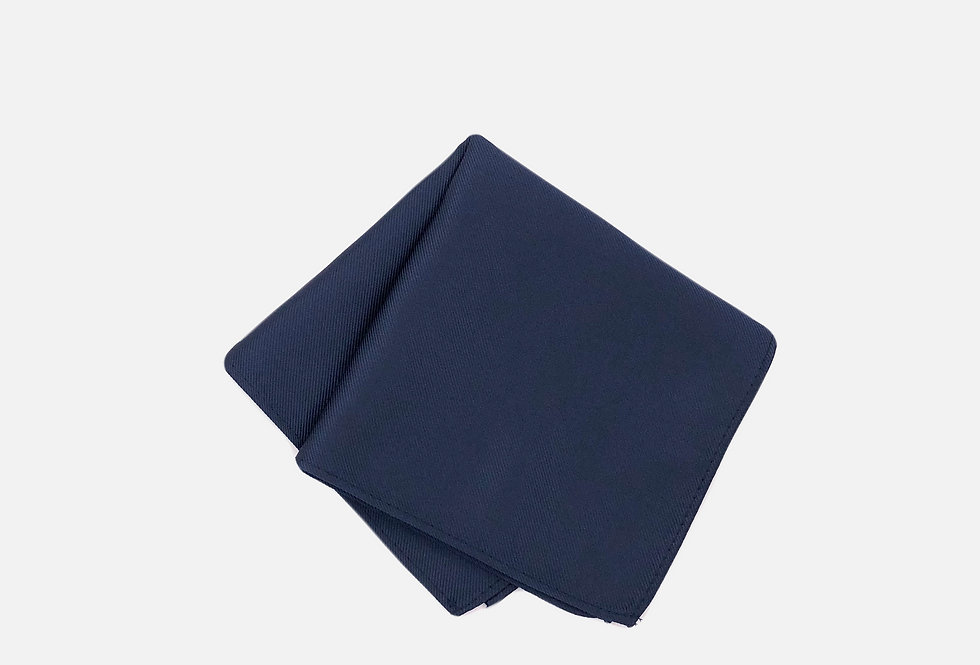 Solid Navy Pocket Square