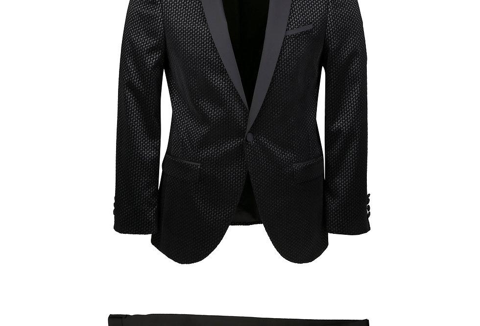 Daylan Black Diamond Velvet Tuxedo