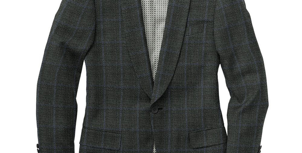 Debonair Green Plaid Tuxedo Jacket