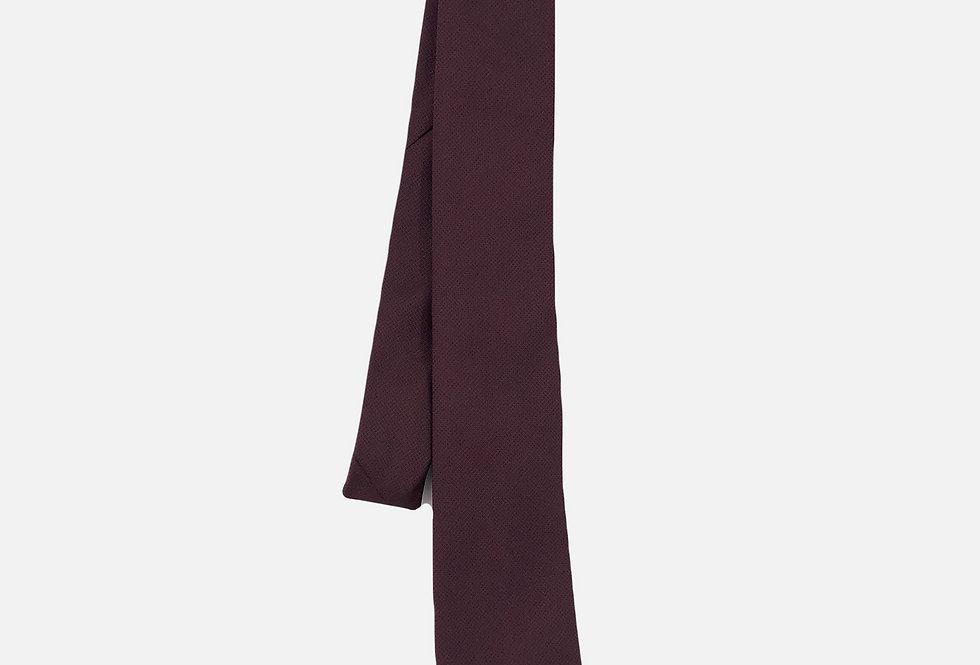 Pin Dot Burgundy Neck Tie