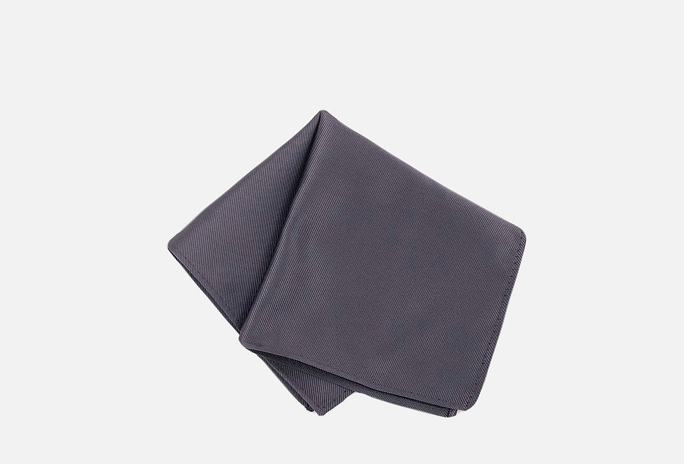 Solid Charcoal Pocket Square