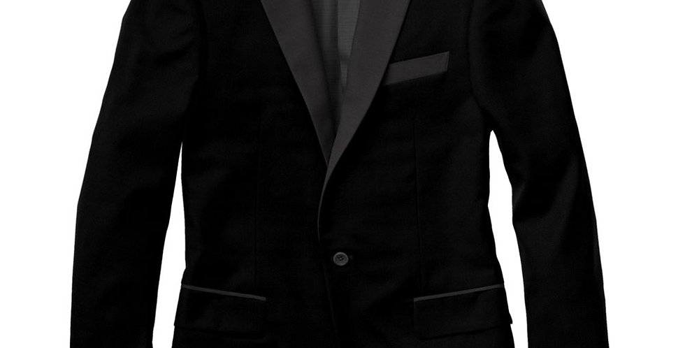 Debonair Black Velvet Peak Tuxedo