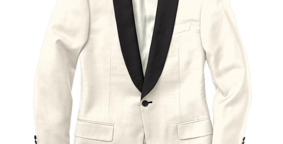 Debonair Houndstooth White Tuxedo