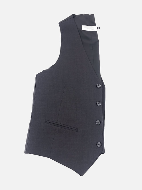 Charcoal Grey 4 Button Vest