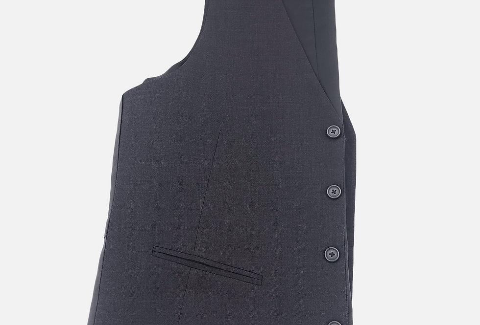 Charcoal Grey 4 Button Vest