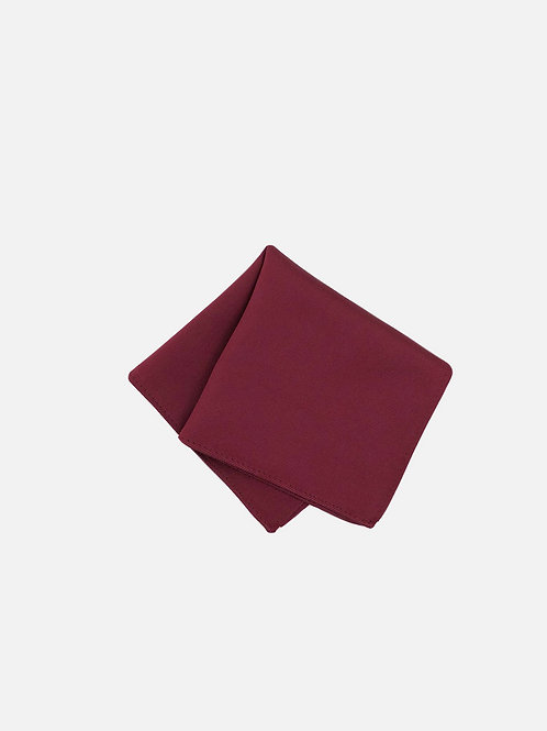 Solid Wine Pocket Square