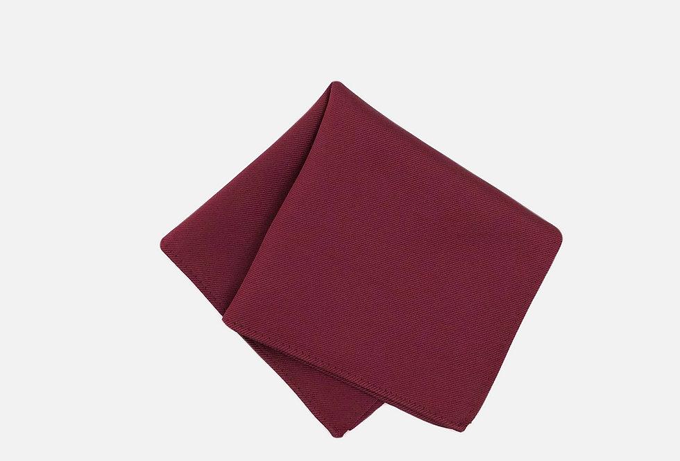 Solid Wine Pocket Square