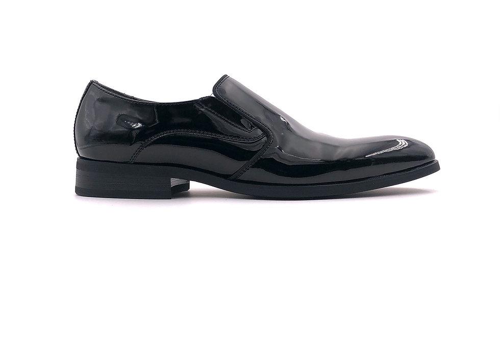 Black Slip On Tuxedo Shoe