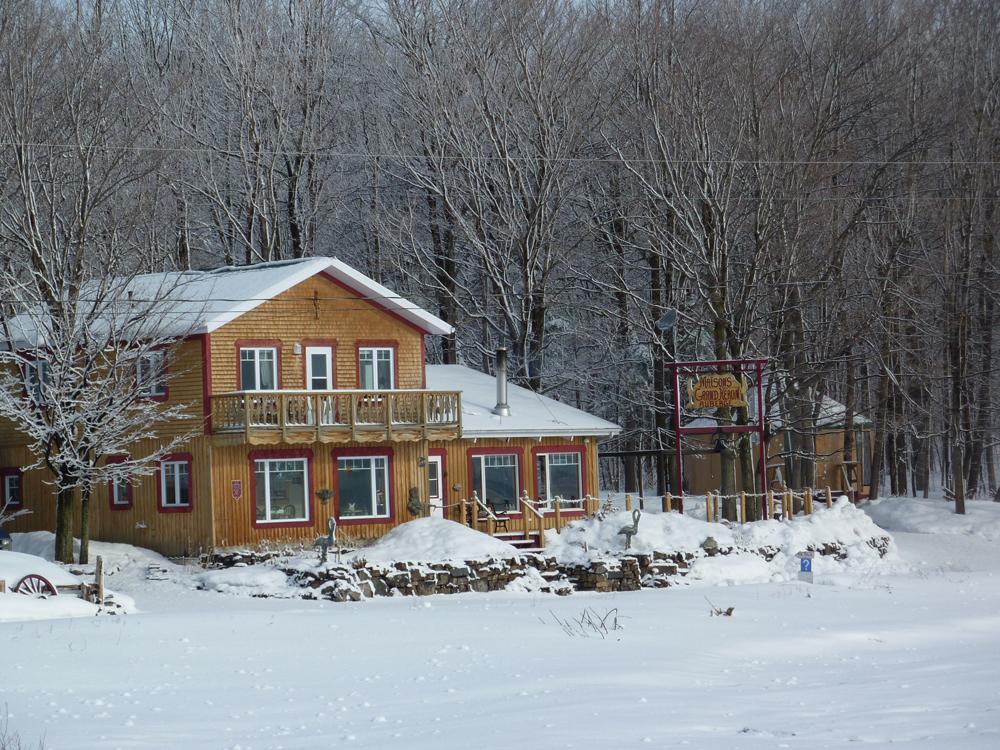 Auberge du Grand Héron en hiver