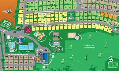 Plan du Camping de Compton