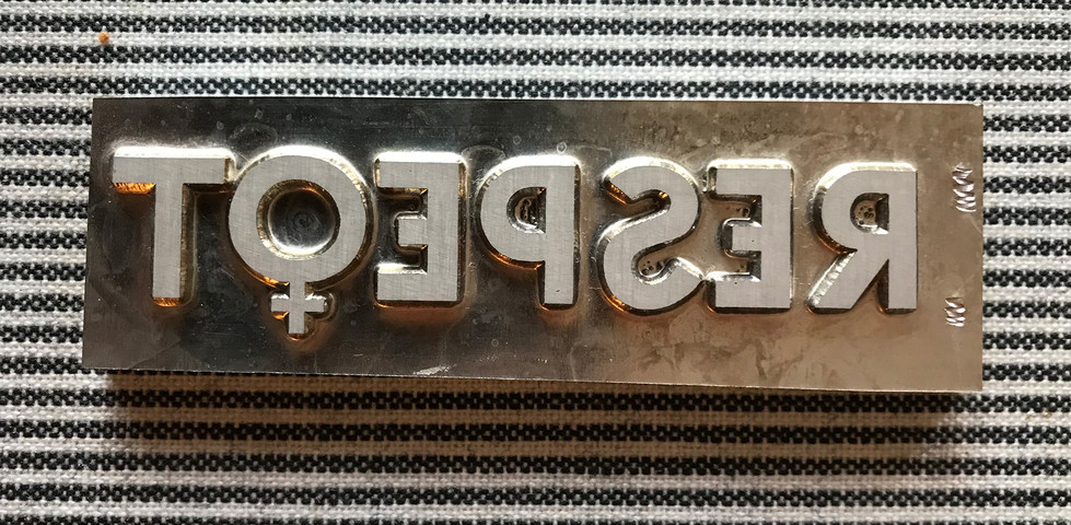 Logotyp som klishé för projektet Respeqt. Med kvinnotecknet istället för q eller k.