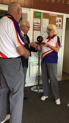 Presentation of the Corona Trophy
