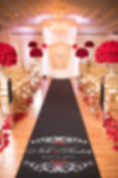 Andrea Green Events & Design LLC, red roses, romance, luxury, stage, canopy, aisle runner,