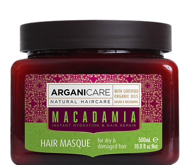 Macadamia oil hair masque