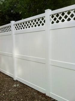 White Vinyl with Accent