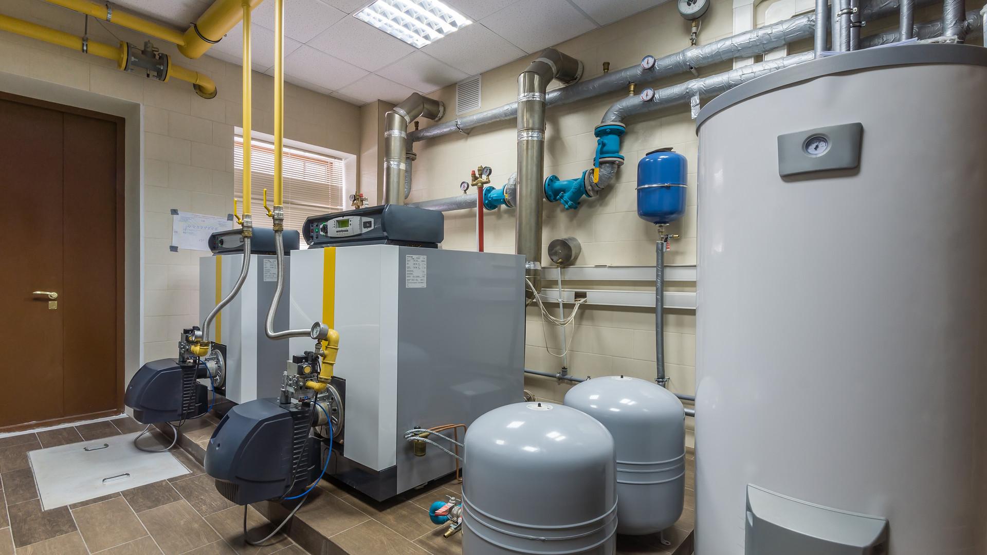 Gas boilers in gas boiler room..jpg
