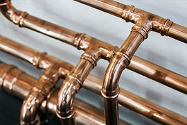 copper pipes and fittings for carrying o