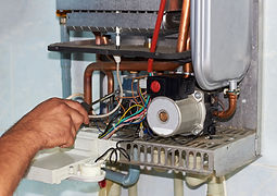 Repair of a gas boiler, setting up and s