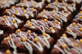 Triple Chocolate Bobo Brownies with Gold