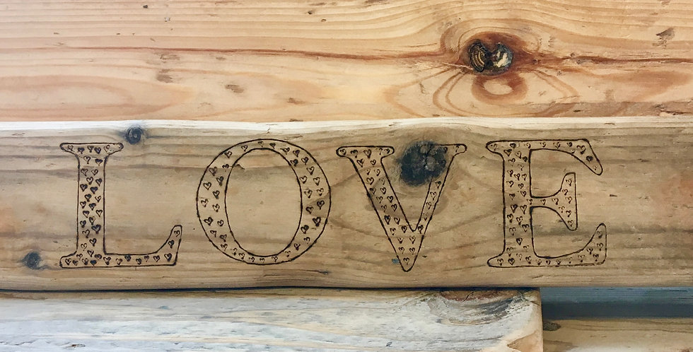 LOVE Cornish Driftwood Plank