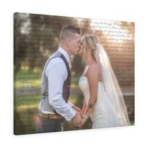 Wedding Photo Canvas with First Dance Lyrics