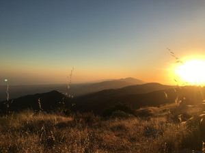 Sunset from La Cumbre Peak, July 2017