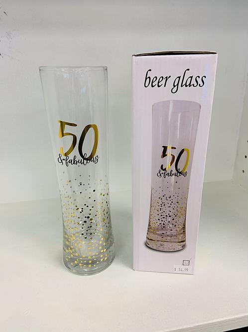 50 & fabulous Beer Glass
