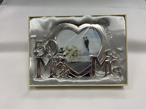 50 Mr & Mrs Picture Frame