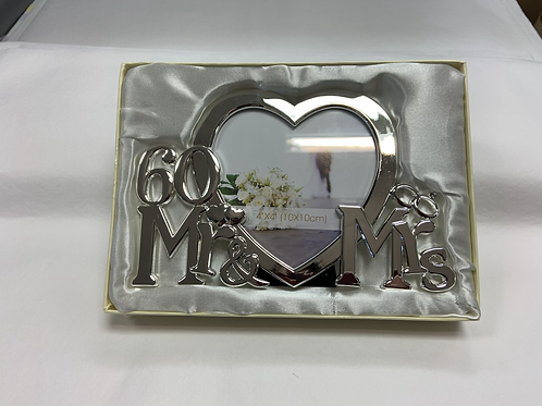 60 Mr & Mrs Picture Frame