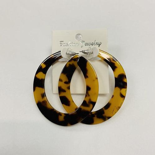 Black and Yellow Hoop Earrings