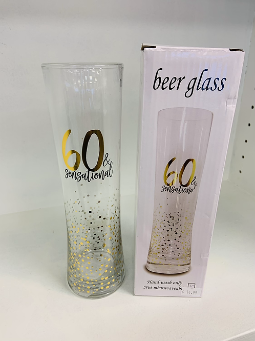 60 & sensational Beer Glass