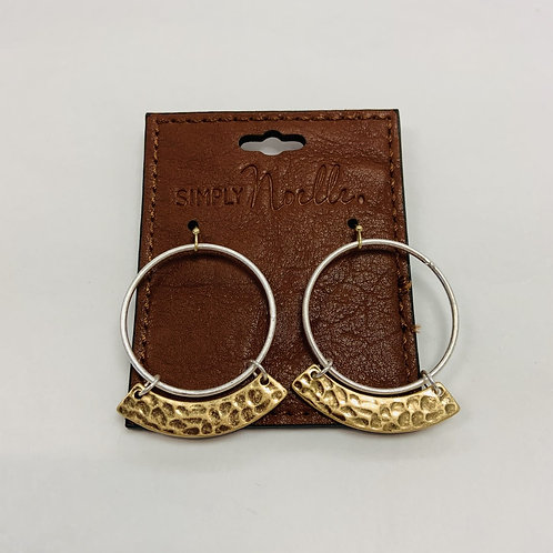 Silver and Gold Metal Earrings