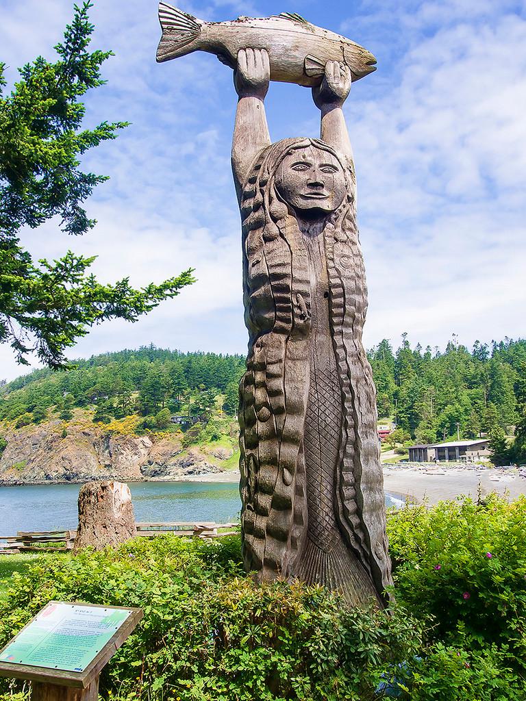 Maiden of Deception Pass Statue (Rosario Beach)