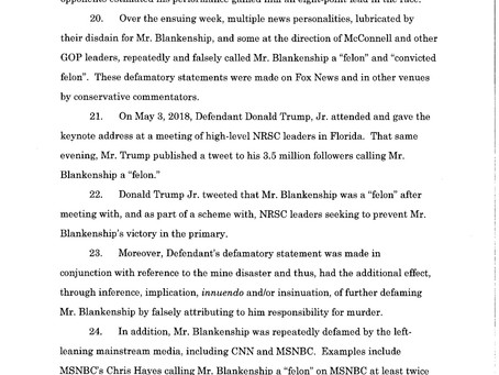 FULL Lawsuit Complaint against Donald Trump Jr.