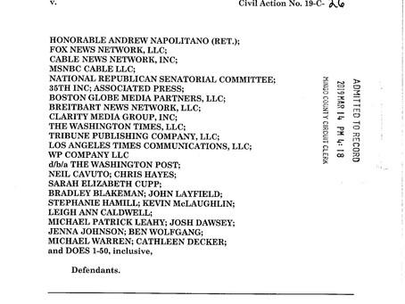 3-14-19 Complaint of Weaponized Defamation