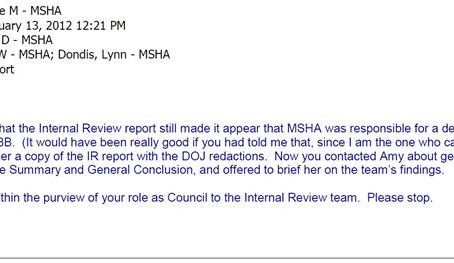 Don Blankenship Releases First Secret MSHA Email Regarding UBB Cover-Up