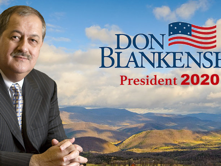 BLANKENSHIP OFFICIALLY ANNOUNCES PRESIDENTIAL BID