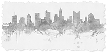 Columbus OH Skyline MT Faded Torn Edges