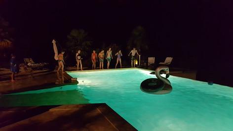 Midnight swim at Les Arts du Bout