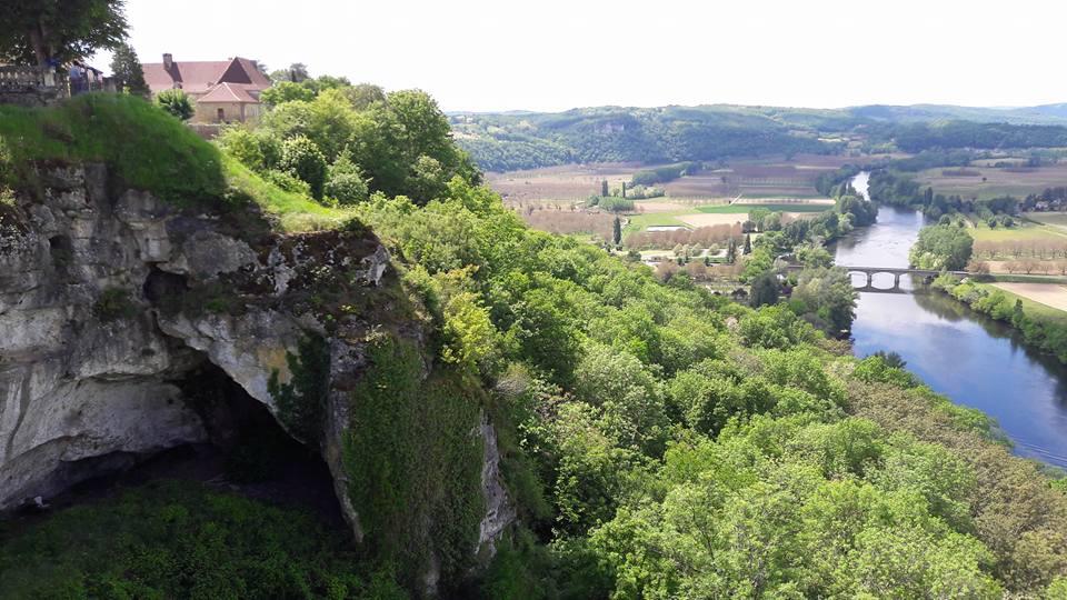 Vue depuis Domme, village médiévale