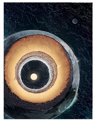Shambhala / Hollow Earth, Signed Print