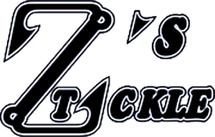 Black and white logo for Z's Tackle.
