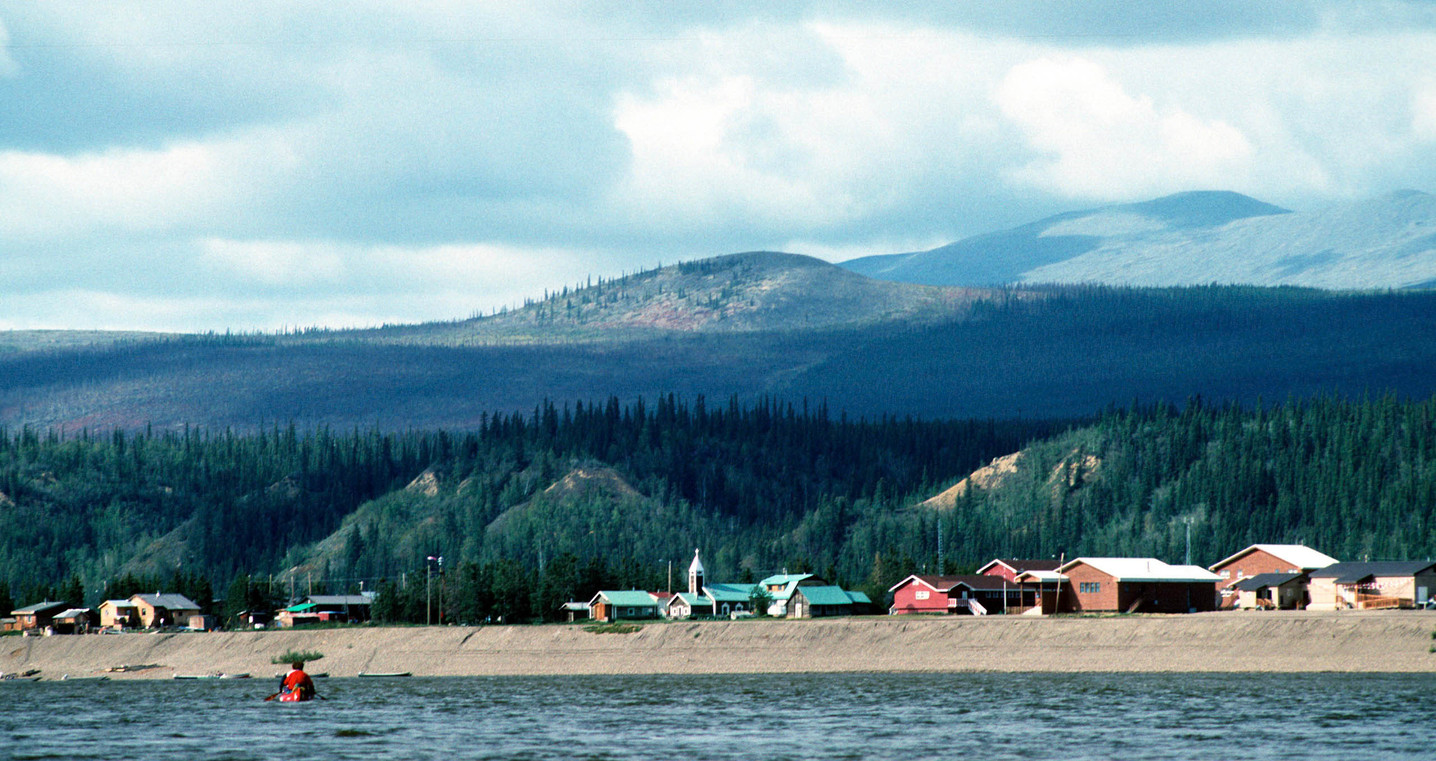 Arriving in Old Crow, Yukon